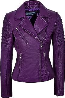 Ladies Real Leather Jacket Stylish Fashion Designer Soft Biker Motorcycle Style 9334