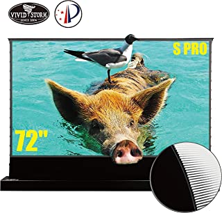 VIVIDSTORM S PRO Ultra Short Throw Laser Projector Screen, TV Home Theater Projector 8K/3D/UHD Black Housing Motorized Flo...
