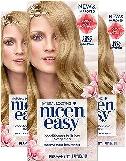 Clairol Nice'n Easy Permanent Hair Color, 8C Medium Cool Blonde, 3 Count