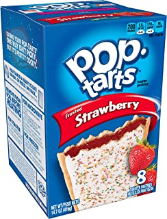 Pop-Tarts BreakfastToaster Pastries, Frosted Strawberry Flavored, Bulk Size, 96 Count (Pack of 12, 14.7 oz Boxes)