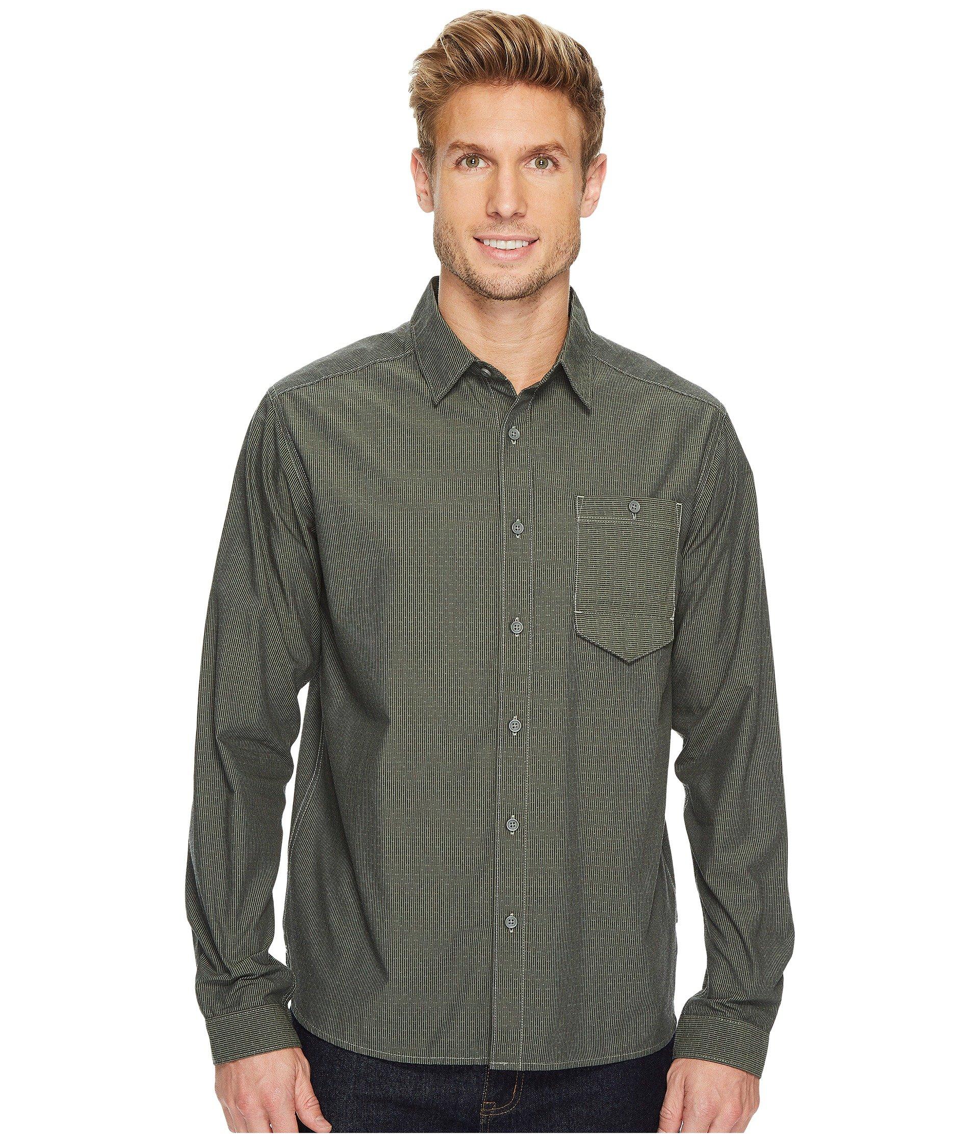 MOUNTAIN HARDWEAR Foreman Long Sleeve Shirt, Green Fade