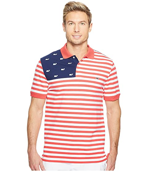 vineyard vines Performance USA Flag Polo Sale With Paypal Free Shipping Best Original Cheap Price Sale With Mastercard Top Quality Cheap Price KuGlFqG