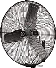 """TPI Corporation Single Phase Wall Mount Commercial Circulator – 30"""" Diameter, 120 Volt Exhaust Fan – Ventilation Fans. Commercial Extractor Fans"""