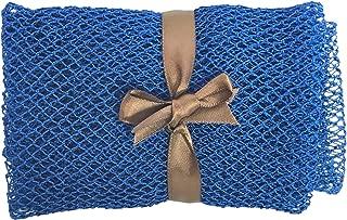"Nature by EJN - Net Bath Sponge, Long, Skin Exfoliation, Porous (49"" Blue)"