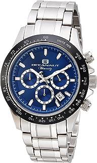 ساعة اوشينت بيارتز انالوج كوارتز للرجال مع سوار من الستانليس ستيل، أسود، 20 (OC6114)