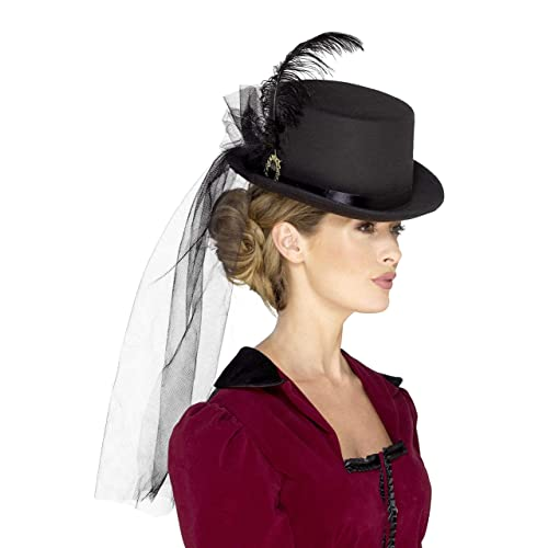 Smiffy s Deluxe Ladies Victorian Top Hat ... 2f22efd7a10