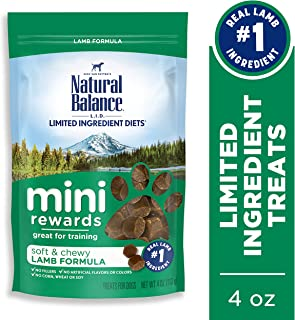 Natural Balance Mini Rewards Dog Treats, 4 Ounce, Training Treats (Packaging May Vary)