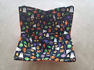 Halloween Candy Microwave Bowl Cozy Ghost Jack O Lantern Reversible Microwaveable Potholder Star Moon Bowl Holder Sucker Lollipop Home Decor Teacher Gifts Under 10 Handmade Housewarming Hostess
