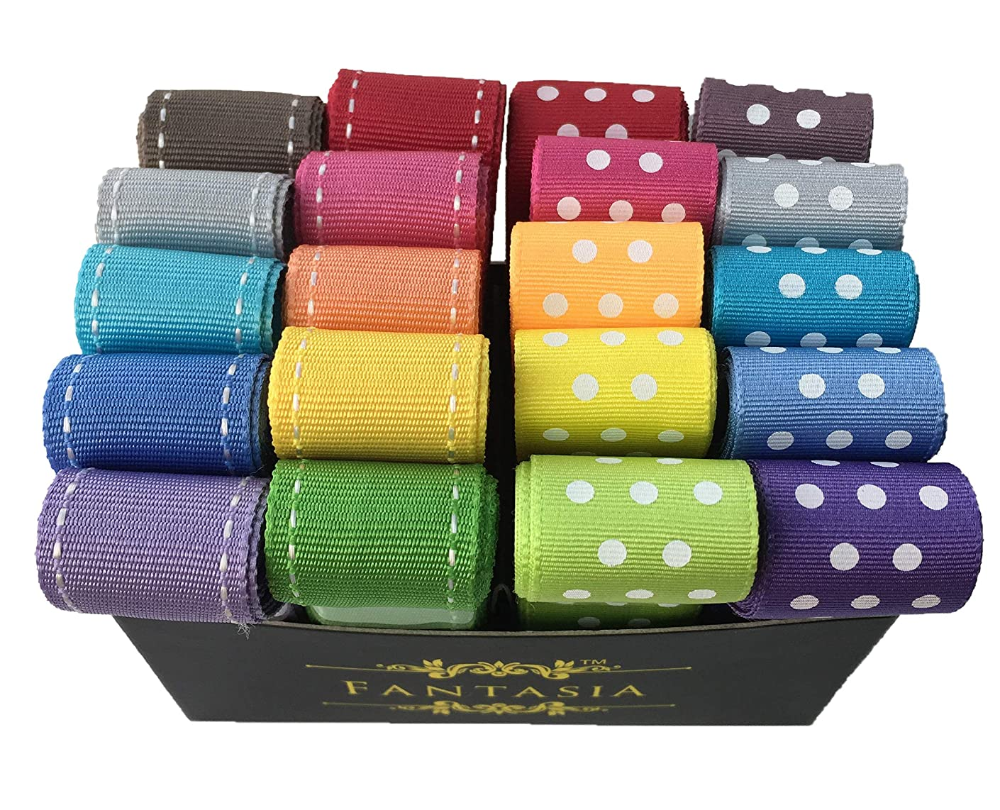 Fantasia Ribbon Box Set: 2 Meters (6.5 feet) x 20 PCS - Total 40 Meters - (1