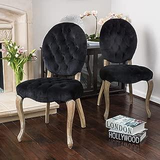 Christopher Knight Home Marianne New Velvet Dining Chairs (Set of 2), Black