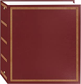 Pioneer Photo Albums TR-100/BK Magnetic 3-Ring 100 Page Photo Album, Black red TR-100/BR