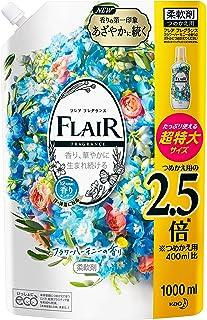 Flair Fragrance Fabric Softener, Flower & Harmony Refill, Large Capacity, 33.8 fl oz (1,000 ml)