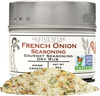 French Onion Seasoning - Authentic Artisan Gourmet Spice Mix - Non GMO Project Verified - All Natural - Sustainably Sourced - 3 oz - Magnetic Tin - Gustus Vitae