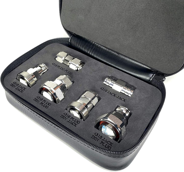 GIZWIZ RF Coax Low PIM Adapter 6pcs Tri-Metal Silver Kit store Max 79% OFF Plating