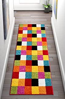 Well Woven 09532 Kids StarBright Bright Square Modern Geometric Multi 2' x 7'3