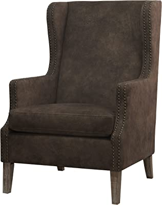 New Pacific Direct 3900014-150 Ellington Wing Arm Chair Furniture Mocha Hide