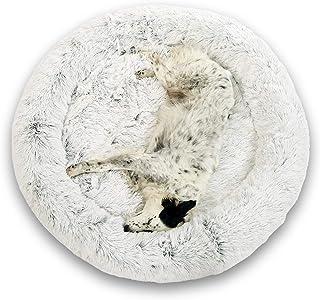 Lit Coussin Chien Chat Apaisant 95cm DODO Donut™ Confort+ Rond Doux Cocoon Puppy Love Panière Anti Stress Panier Petit Moy...