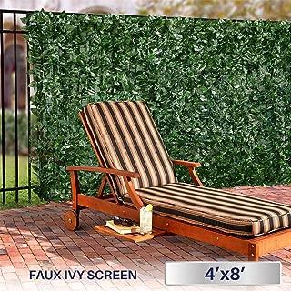 Windscreen4less Artificial Faux Ivy Leaf Decorative Fence Screen 4' x 8' Ivy Leaf Decorative Fence Screen