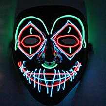 JOYIN Halloween Cosplay LED Mask Light Up Scary Skull/Clown Mask with 3 Lighting Modes for Halloween Cosplay Costume Party