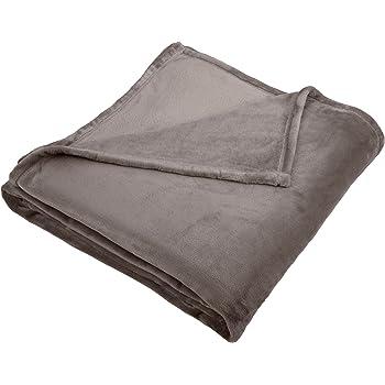Pinzon Velvet Plush Blanket - King, Grey