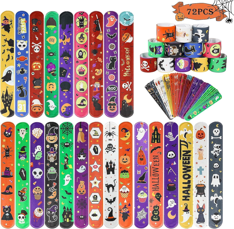 MGparty 72PCS Halloween Max 52% OFF Slap Gifts Bracelets Theme - 24 Desi