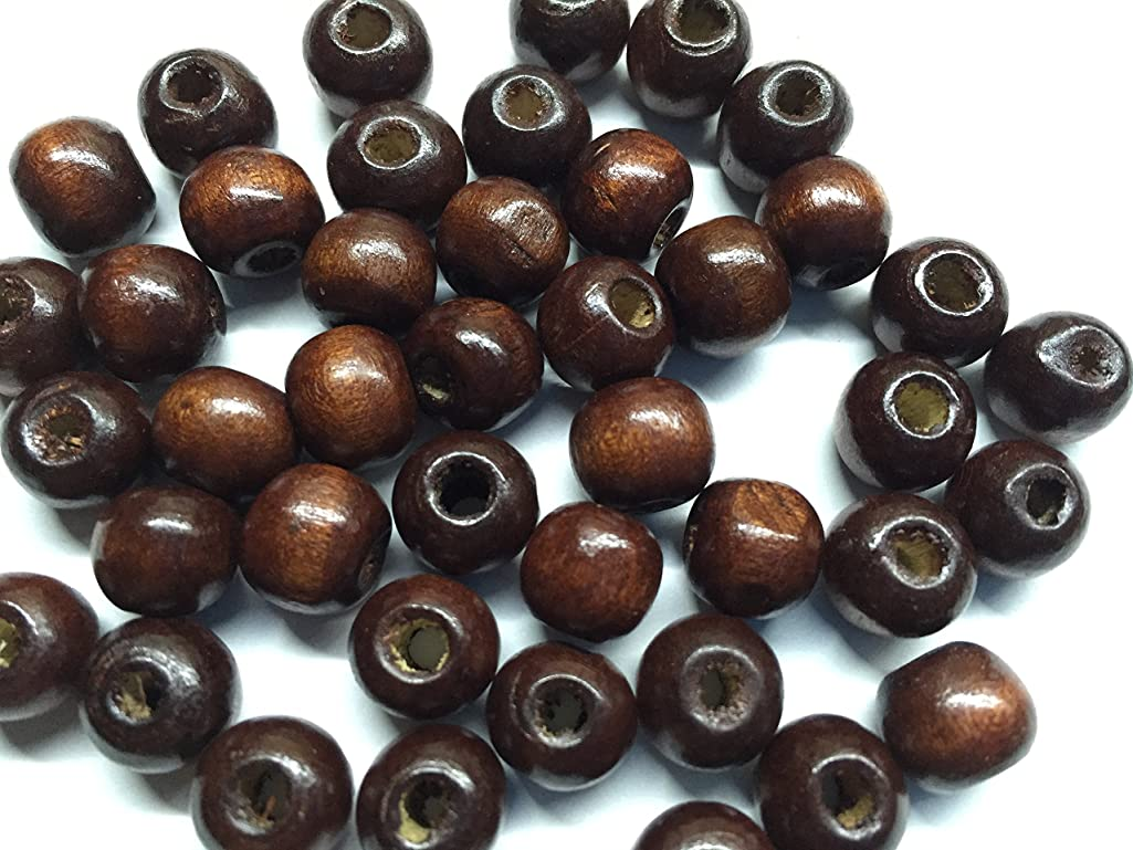 Bistore -(Dyed / Coated) Dark Brown Wood Bead,10x9mm Hand-cut Rondelle. Pack of 500pcs