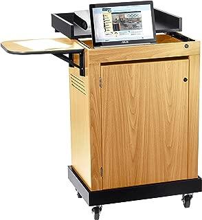 Oklahoma Sound Smart Cart Lectern, Light Oak