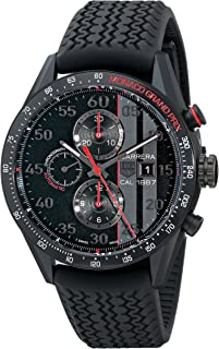 TAG Heuer Men's CAR2A83.FT6033 Carrera Analog Display Swiss Automatic Black Watch