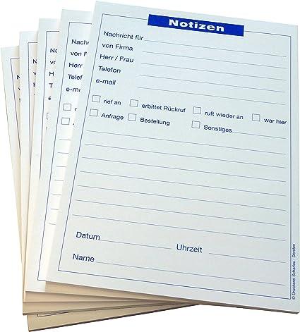 18x Notizblocks Telefonnotiz In Blau Notizen 50 Blatt Din A5 Qualitäts Offset Papier 80g M 22201 Bürobedarf Schreibwaren