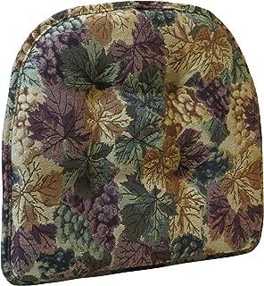 Klear Vu The Gripper Non-Slip Tufted Cabernet Tapestry Chair Cushion