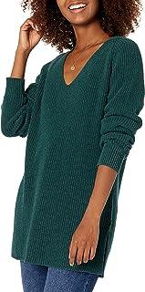 Amazon-Marke: Goodthreads Damen Cotton Half-Cardigan Stitch Deep V-Neck Sweater