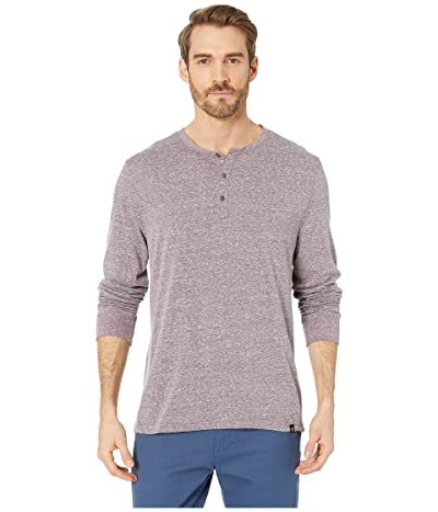 Threads 4 Thought Tri-Blend Long Sleeved Henley (Dark Plum) Men