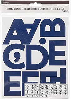 Darice Navy Blue Alphabet Adhesive Backed Stickers, 148 Piece