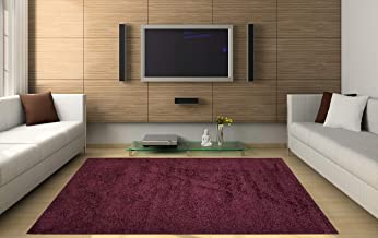 Homedora Solid Franbuaz Shag Area Rug (4.9' x 7') Contemporary Livingroom Bedroom Soft Shaggy Solid Color Area Rug