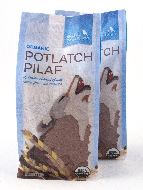 2 Pack Milwaukee Mall Cheap bargain of Certified Organic Potlatch Wild an Pilaf Rice Heirloom
