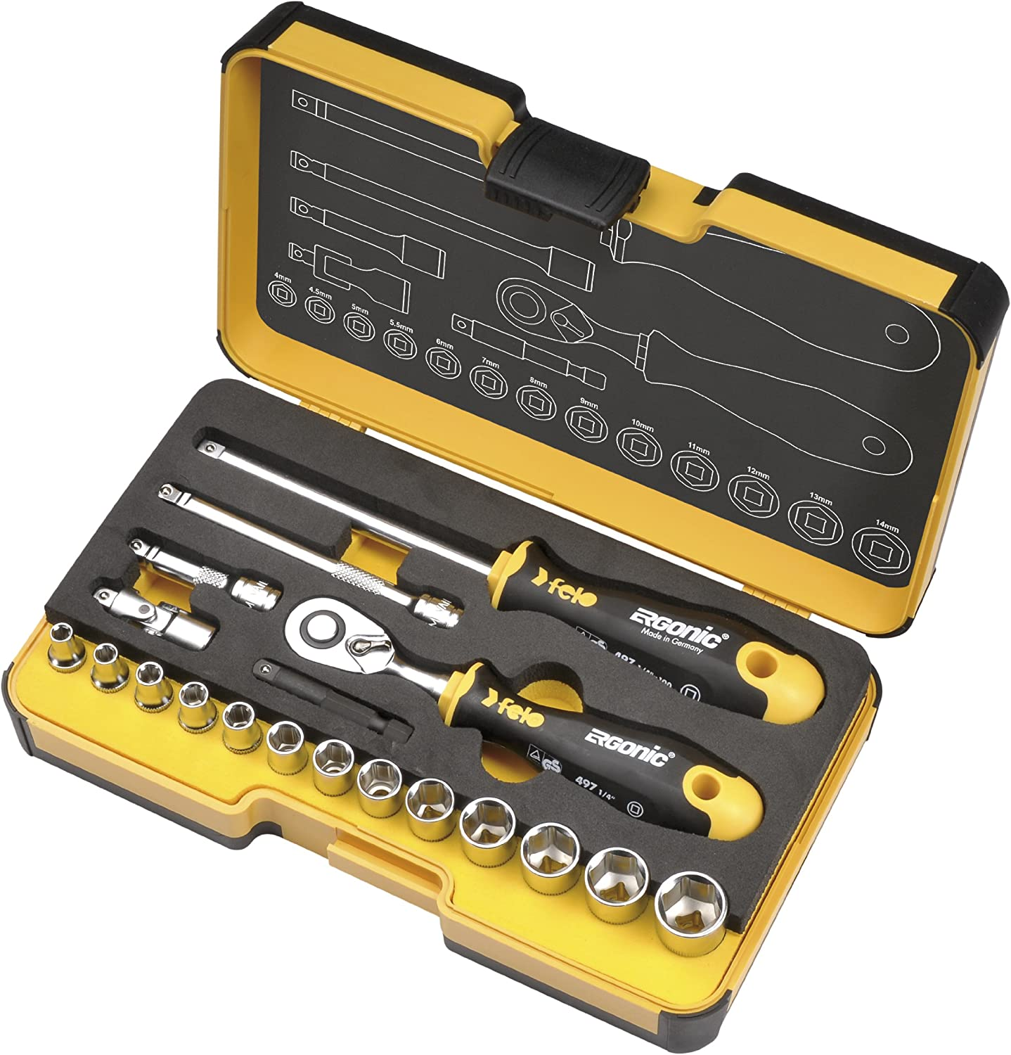 Felo R-GO 19 Challenge the lowest price of Japan ☆ 05781906 Tool OFFicial Set 19-Piece