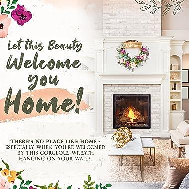 Wreaths for front door - front door wreaths - summer wreaths for front door outside - summer wreath - door wreaths for front