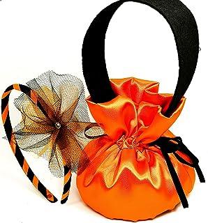 Borsetta Portacaramelle e Cerchietto per Costume halloween Bambina-Made in Italy