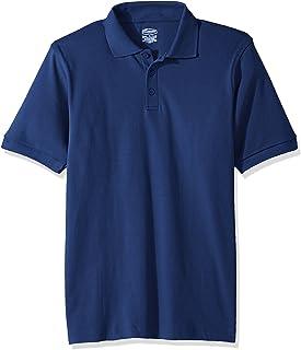 Classroom Big Kids Boys' Uniform Short Sleeve Interlock Polo