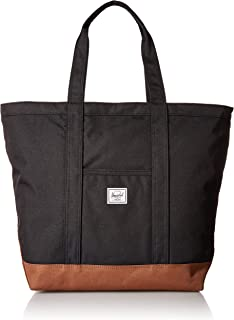 Herschel Bamfield Mid-Volume Travel Tote, Black/Saddle Brown, One Size