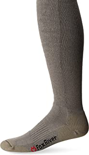 Fox River Men's Fatigue Fighter Over-The-Calf Socks Large, 1 Pack Coyote Brown Socks with Upgraded Air Flow & Ultimate Com...