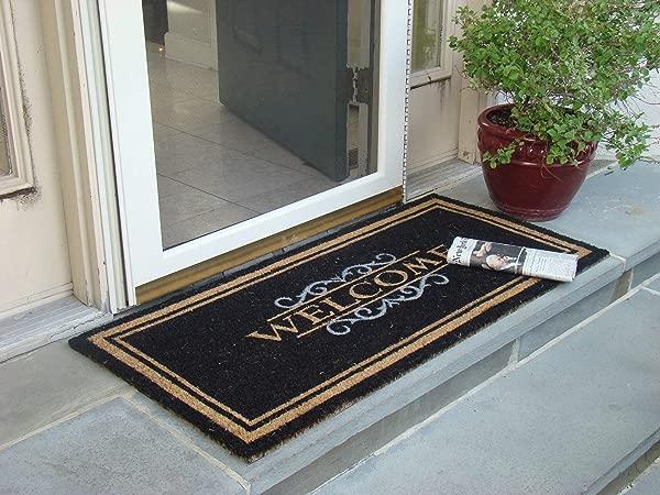 NEW Kempf WELCOME MAT Heavy Duty Large Coir Doormat Front Porch Double Door Outdoor Floor 2295 Free Ship