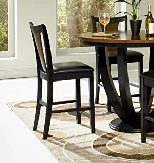 Boyer Two-tone Counter Stools Amber and Black (Set of 2)