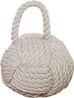 Creative Co-op DE1586 Nautical Rope Knot Door Stop, White