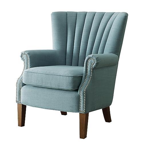 Blue Wingback Chair Amazoncom
