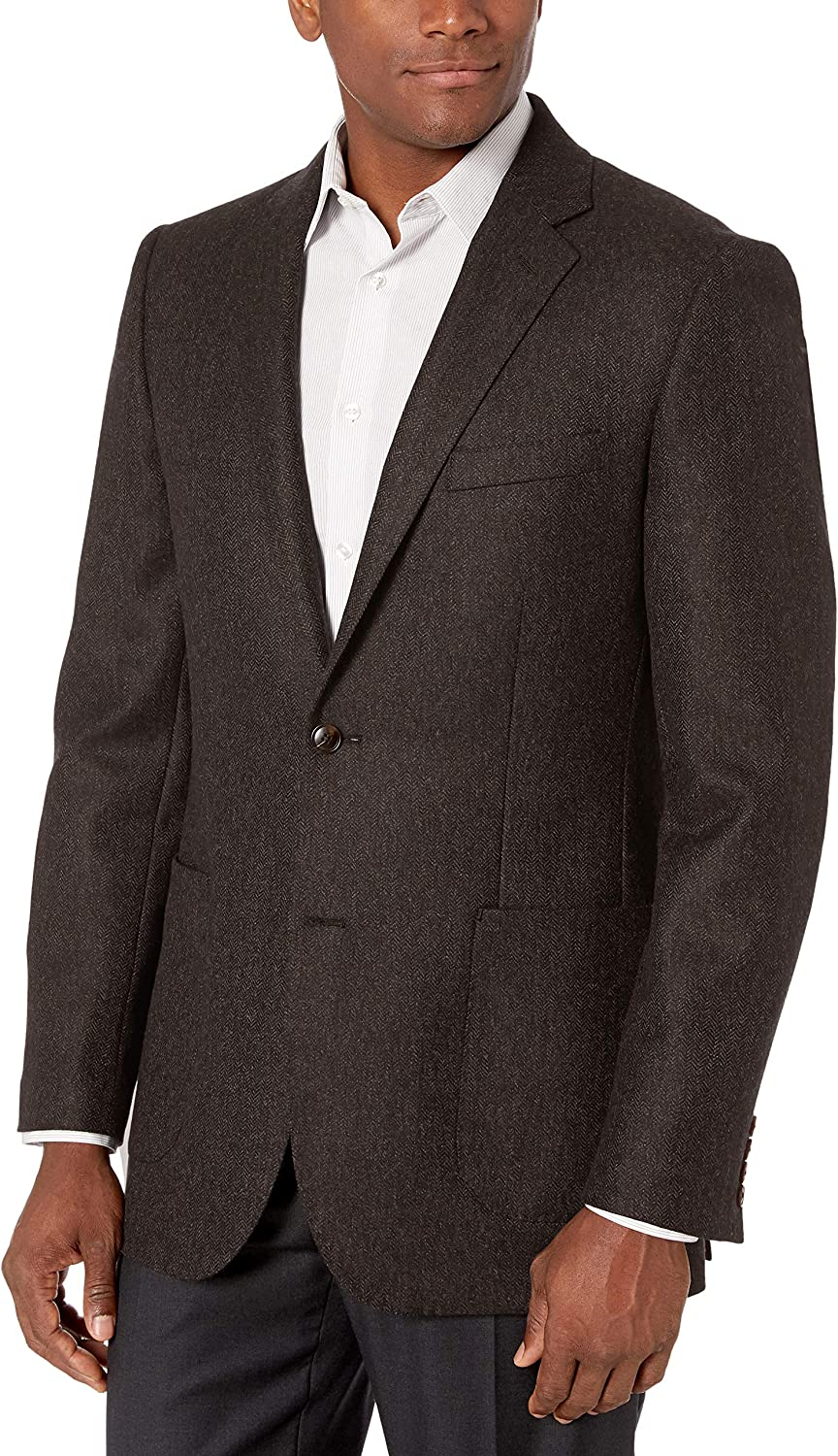 Amazon Brand - Buttoned Down Men's Italian Classic-Fit Wool Luxury Herr Indianapolis Mall