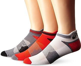 ASICS Unisex Quick Lyte Cushion Single Tab Socks (3 Pairs), Cone Orange Assorted, X-Large