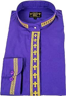 Ladies Long Sleeve Neckband Clergy Shirt