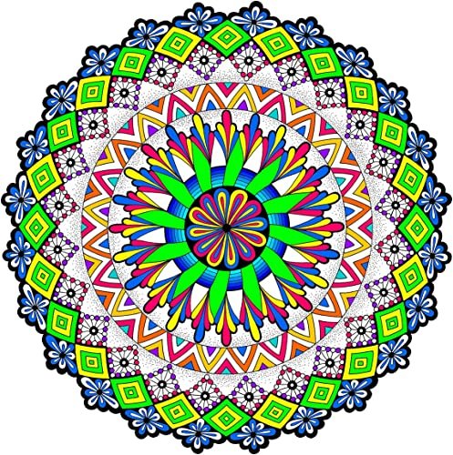 cómodamente Outer Realms - Giant Mandala Mandala Mandala Coloring Poster - 22 X 22 Inches by Stuff2Color  alto descuento
