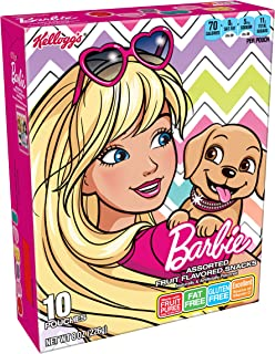 Fruity Snacks, Barbie, Assorted Fruit Flavored Snacks, Gluten Free, Fat Free, 8oz (10 Pouches)